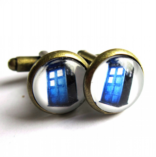 Tardis Cufflinks Men Jewellery