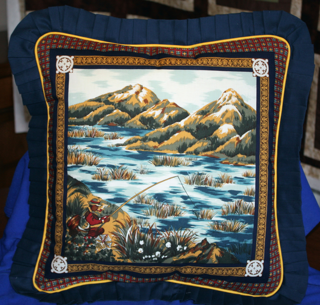 Cushion Cover - Gone Fishing (2)