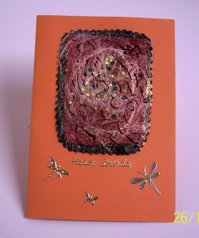 Cards - Happy Birthday - Dragonflies