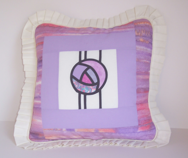 Cushion Cover - Lilac and Cream
