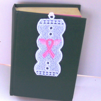 Lace Bookmark - Breast Cancer- Pink Ribbon  -  4
