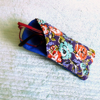 Glasses Case - Blue Floral