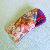 Glasses Case - Purple Floral