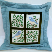 Cushions - Birds - Bluetits in my Window