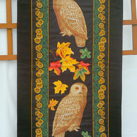 Wall Hanging - Quilted Owls