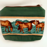 Pouch Purse with Horses