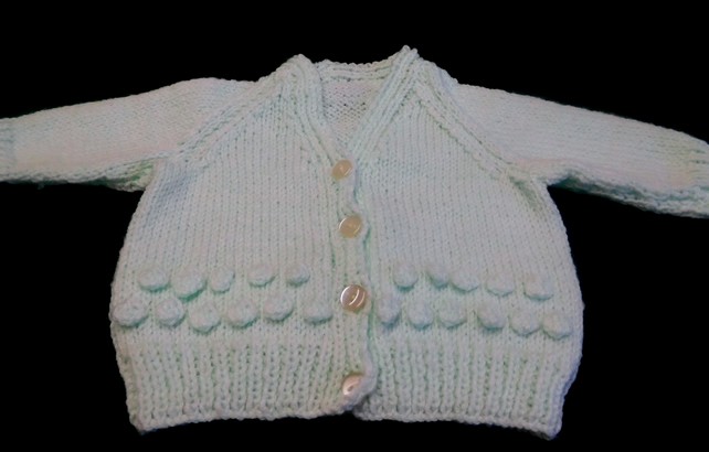 Baby Cardigan in Pale Green