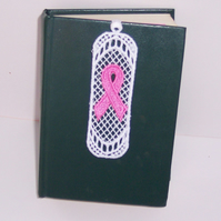 Breast Cancer - Lace Bookmark - Pink Ribbon - 6