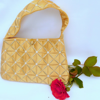 Purse, Gold Evening Bag, Evening Bag, Embroidered Evening Bag