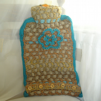 Handmade hot water bottle cover