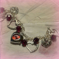 Gorgeous Garnet Party Watch