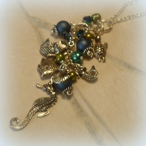 Ocean Treasures Cluster Charm Necklace