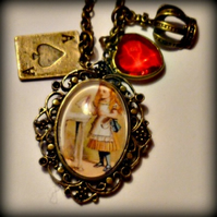 Alice in Wonderland Pendant - Queen of Hearts