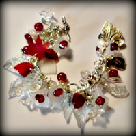 Winter Flowers Charm Bracelet