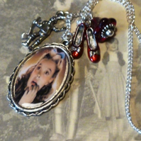 Dorothy, Ruby Slippers and Tin Man Oz Pendant