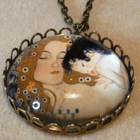 "Klimt ""Mother and Child"" Pendant"