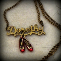 """Dorothy and her Ruby Slippers"" Pendant"