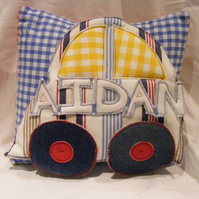 3D applique personalised car cushion