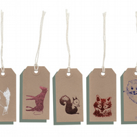 wildlife gift tags x 10
