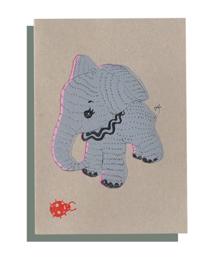X 4 CARDS : Elephant , Dogs , Beverley , Butterflies
