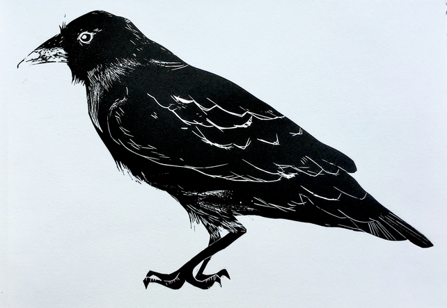 Black Crow - Lino Cut