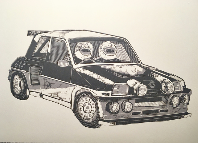 Renault 5 Gordini Turbo - Lino Cut