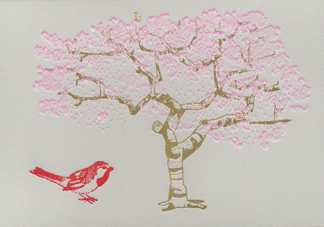 Cherry Blossom - Greetings Card