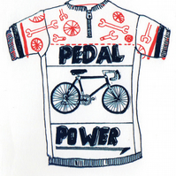 Cycling Jersey - Greetings Card
