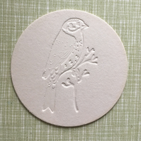 Beer mat coasters x 6 - Little Bird motif