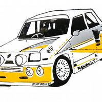 Renault 5 Gordini Turbo - Greetings Card