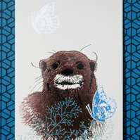 Otter - Greetings Card