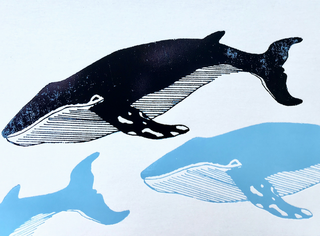 Humpback Whale - Greetings Card