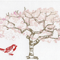 Cherry Tree - Greetings Card