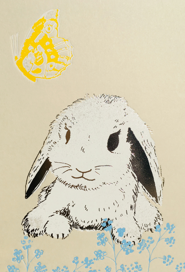 Baby Lop Bunny - Greetings Card