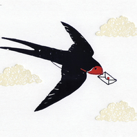 Swallow - Greetings Card