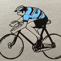 Cyclist Greetings Card