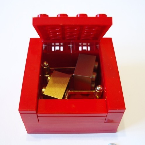 RED LEGO® Cufflinks Gift  Display Box - cufflinks sold separately