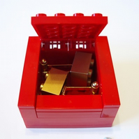 RED Cufflinks Gift Display Box Made from LEGO Bricks CUFFLINKS SOLD SEPARATELY