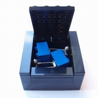 BLACK Cufflinks Gift Display Box Made from LEGO Bricks CUFFLINKS SOLD SEPARATELY