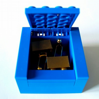 BLUE Cufflinks Gift Display Box Made from LEGO Bricks CUFFLINKS SOLD SEPARATELY