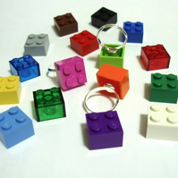 LEGO® Brick Ring - silver plated
