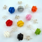 LEGO® Stud Earrings - silver plated