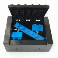 LEGO® Cufflinks & Tie Slide set includes LEGO® Box - Handmade with LEGO® Bricks