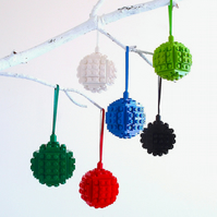 Christmas Decoration - Made with LEGO® Bricks. Christmas Bauble, Tree Ornament