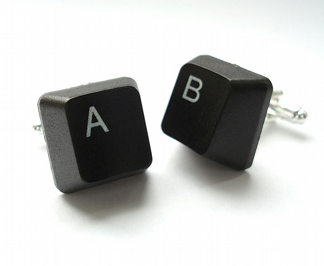 Groomsmen Cufflinks, Handmade from Computer Keyboard Keys, Wedding Grooms