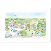 The Village Wakes Up limited edition print