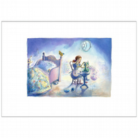 Sewing by Twilight - Limited edition signed print