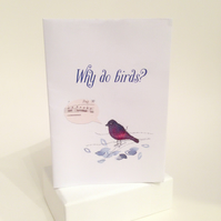 Why Do Birds? - Valentine's small folding book