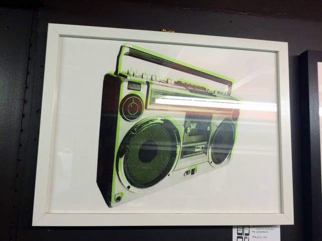 Ghetto Blaster screen print