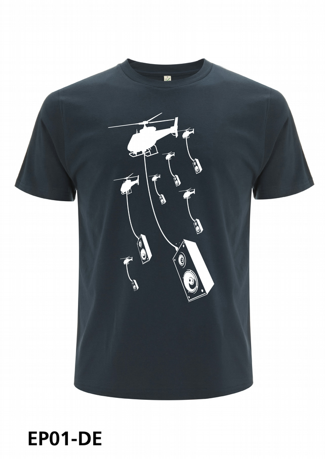 Helicopter and speakers T-shirt